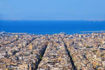 Beautiful view from Athens to Piraeus, Greece