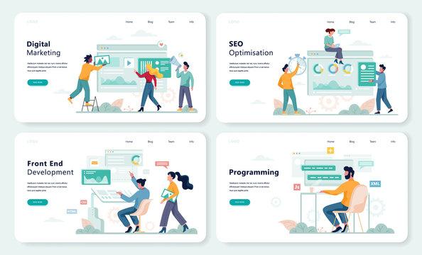 Front End development, programming web banner design