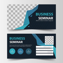 member card corporate business card, name card template ,horizontal simple clean layout design template , Business banner template for website