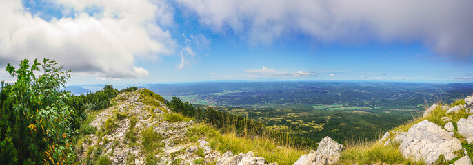 View from the top of Mount Voyak to the Istrian Peninsula