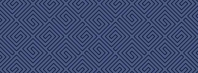 Striped geomitrical illustration. Monochrome trellis. Maze.