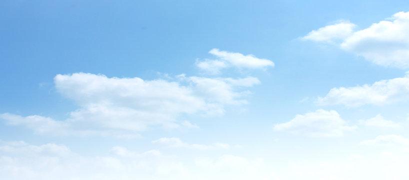 Empty white cloud on blue sky