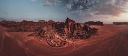 Canvas Prints Bordeaux Wadi Rum