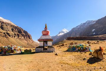 Obraz Buddhist stupa near the south face of Kailash. Tibet - fototapety do salonu