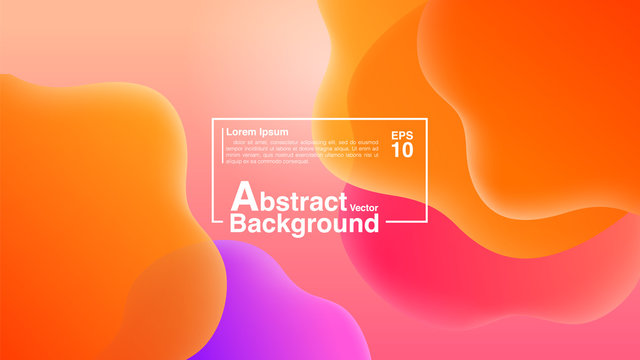 Background Abstract From Fluid Shapes Composition Concept. Lava Lamp Modern Background Abstract. Vector EPS 10