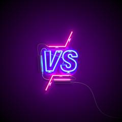 versus neon sign