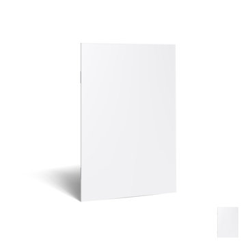 3D Standing Blank Clear White Brochure With Ssadow