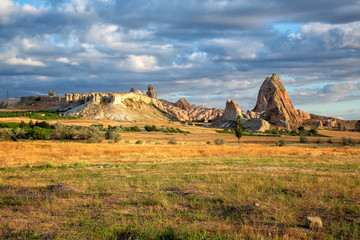 Poster de jardin Parc Naturel Amazing rocky landscape of Cappadocia in the morning