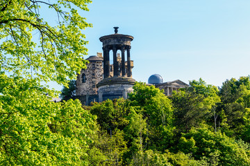 Calton Hill in Edinburgh, Scotland, UK