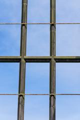 Window Frame and Blue Sky
