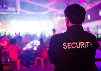 security guard in night club...