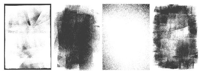 Fototapeta Rectangular retro frames set obraz