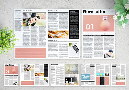 Black and White Newsletter Layout