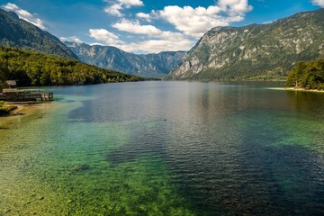 Wall Mural - Scenic Lake Bohinj Slovenia