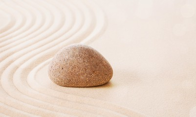 Photo sur Plexiglas Zen pierres a sable Zen stones in the sand. Grey background