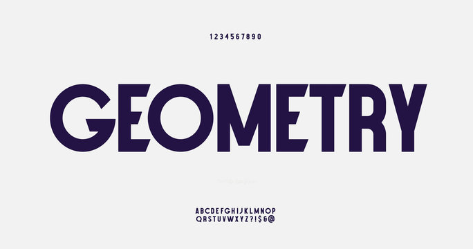Vector abstract font modern style 10 eps