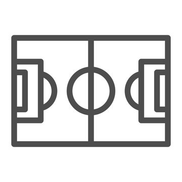 Football field line icon. Pitch vector illustration isolated on white. Stadium outline style design, designed for web and app. Eps 10.