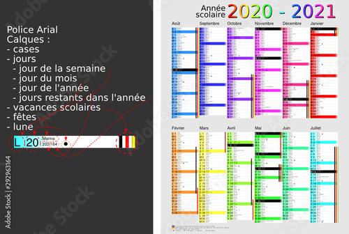 Calendrier Scolaire 20202019.Calendrier Saints 2020