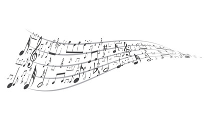 music symbol background , Elements musical background music background  vector