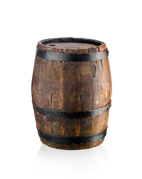 Old oak wine barrel