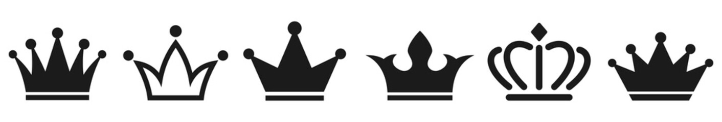 Crown icons collection. Vector illustration