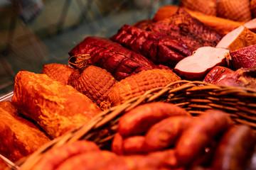 Fototapeta Sklep mięsny- wędlina obraz