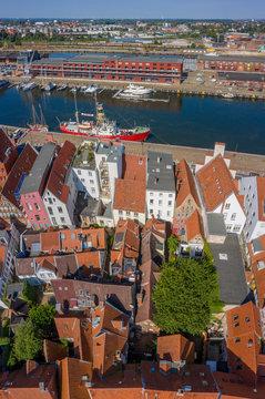 Gägneviertel Untertrave Lübeck, Luftaufnahme