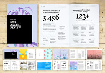Annual Review Layout with Bold Text Elements