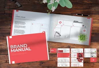 Red and White Brand Manual Layout