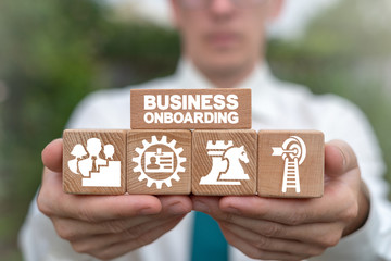 Business Onboarding Employee Training Concept.