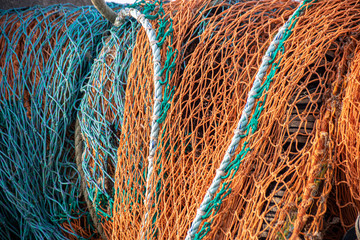 Mulitcolored fishing nets