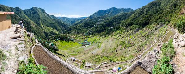 Panorama sur les rizières de Batad aux Philippines