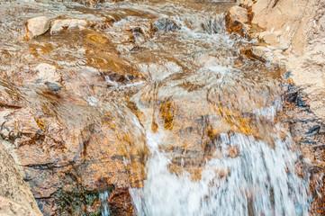 Beautiful Colorful Rock Waterfall Stream