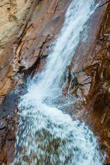 Beautiful Red Rock Stone Waterfall