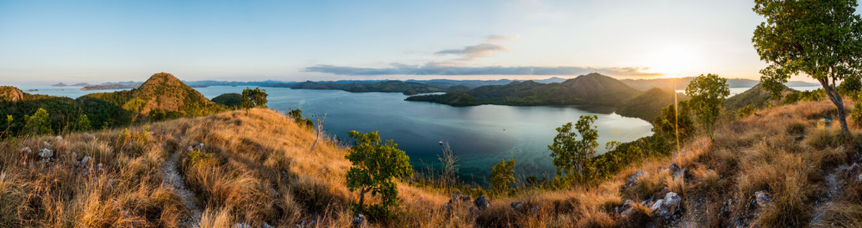 Panorama de Busuanga au coucher du soleil