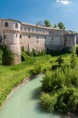 """The """"Ducal Palace"""" of Urbania (Marche, Italy) over the river Metauro"""