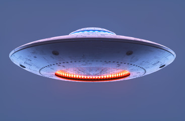 Garden Poster UFO Unidentified Flying Object Clipping Path