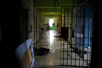 A view shows empty cells in Topo Chico prison during a closing ceremony in Monterrey