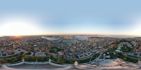 Foto op Canvas Las Vegas pranoramic aerial view of istanbul