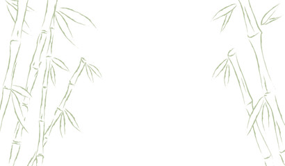 Bamboo or sugar cane forest frame background. Vector illustration drawing