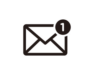 Email notification icon symbol vector