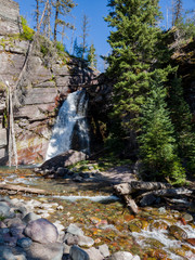 Baring Falls at the Saint Mary Lake