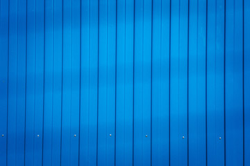 blue metal fence, striped texture background