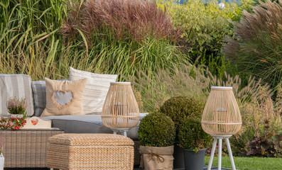Fototapeta Strefa wypoczynku w ogrodzie