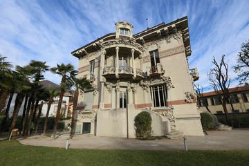 architecture of Villa Bernasconi of Lake Como, Italy