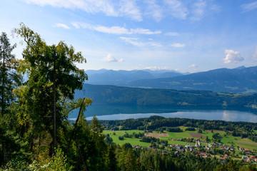lake millstätter see, carinthia, austria,