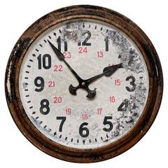 Old round wall clock