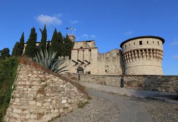 historic castle of Brescia, Italy