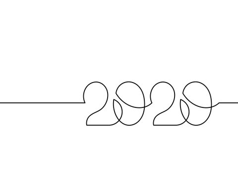 One continuous line drawing 2020