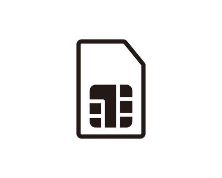 Sim card icon symbol vector